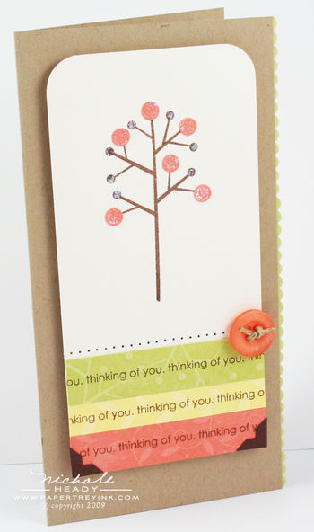 Sparkle Tree card