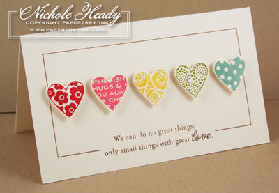 Rainbow of Hearts card