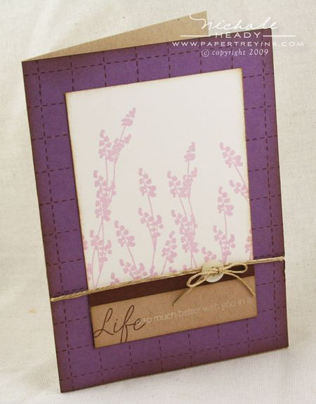 Lavender Life card