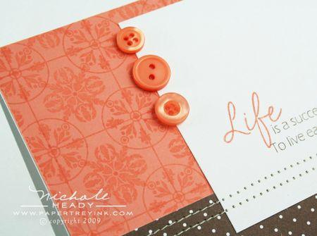 Life Success card closeup