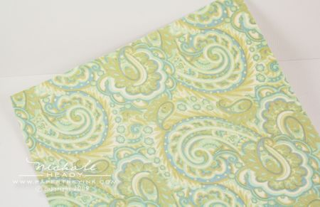 Fabric adhered to cardstock