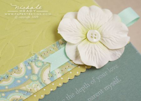 Card flower closeup