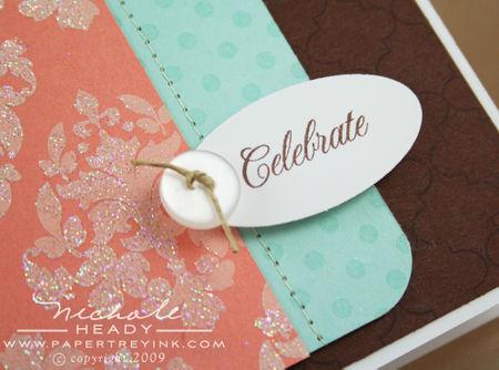 Celebrate tag closeup
