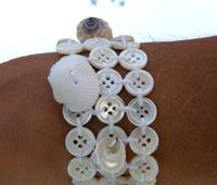 White button bracelet
