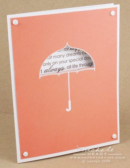 Umbrella Word Window card