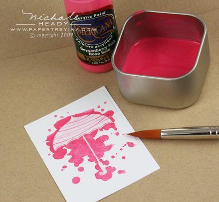 Paint splatter process