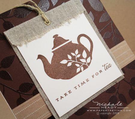 Tea Time tag closeup