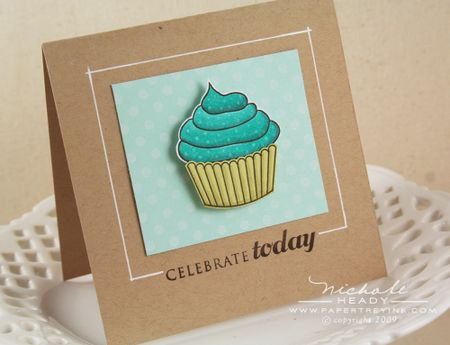 Colored cupcake card