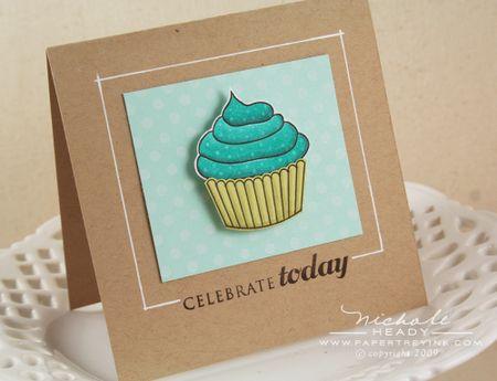 Colored cupcake card