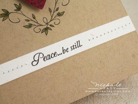 Peace be still sentiment