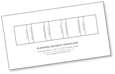 Pleated-accent-template