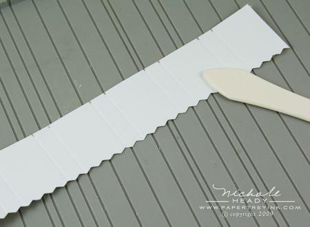 Scoring pleats