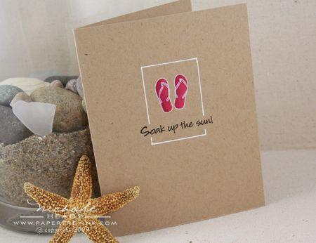 Pink flip flop card