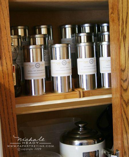 Tea tin cupboard