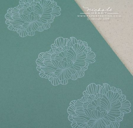 Stamped flower layers