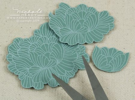 Cut out flower layers