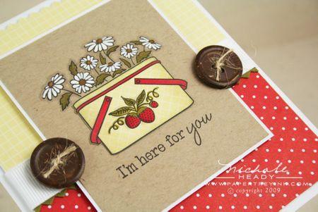 Strawberries & daisies closeup