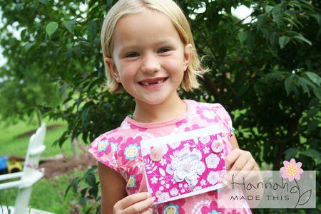 Hannah & her card