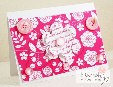 Hannah's Pink Card