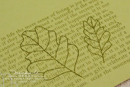 Stamped leaves