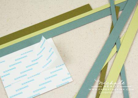 Adhering strips