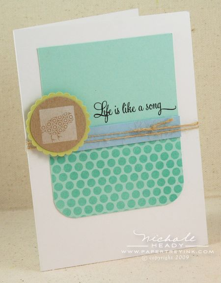 Life is like a song card