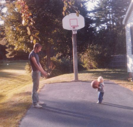 Dad & I basketball