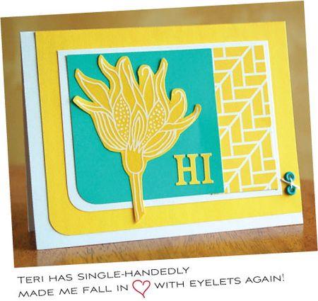 Eyelet-card
