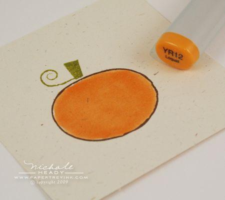 Colored pumpkin step 2
