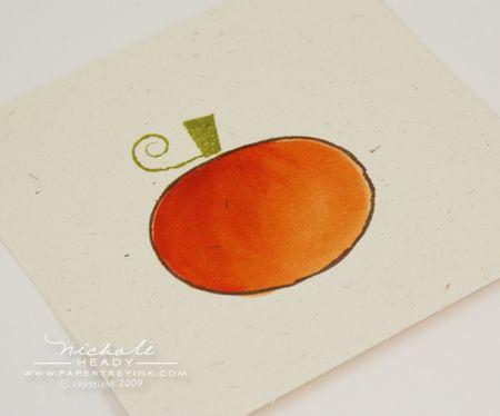 Colored pumpkin step 4