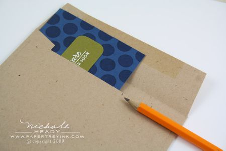 Marking envelope for stitching