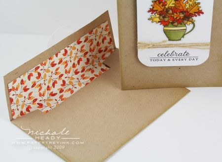 Envelope liner inserted
