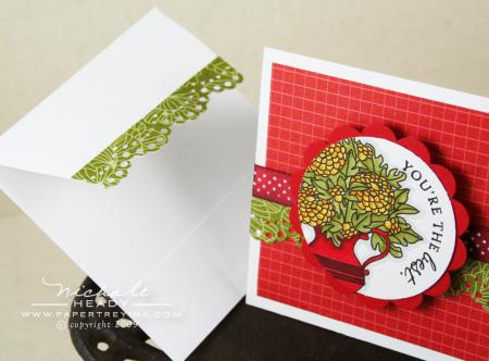 Lace edge envelope