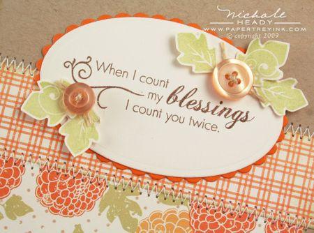 Blessings closeup