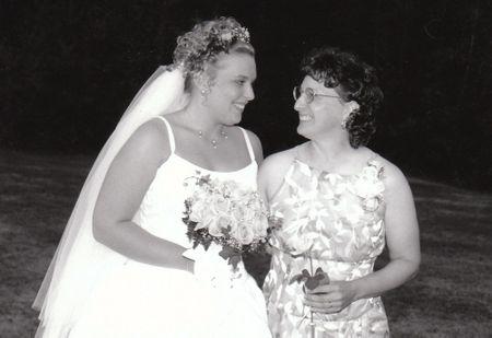Mom & me wedding day
