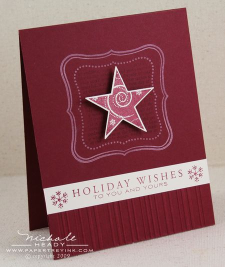 Holiday Star Wishes card
