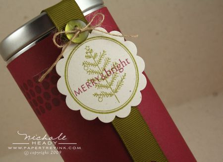 Merry & Bright tin tag