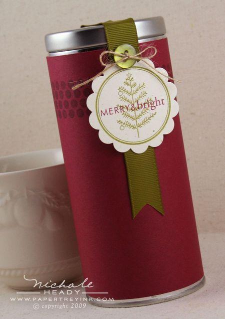 Merry & bright tin