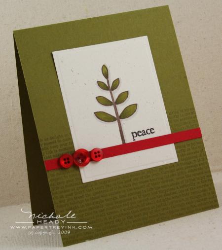 Peace Tree card