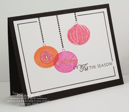 Glittered Ornaments card