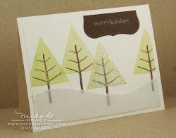 Glitter Tree card