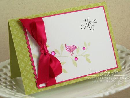 Merci Bird card