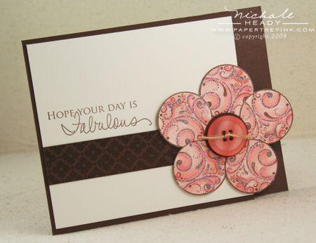 Glitter Flower card
