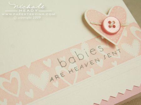 Babies are heaven sent closeup