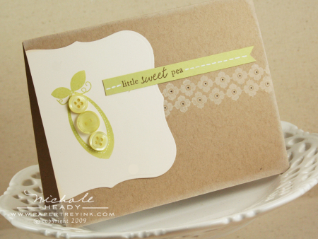 Little sweet pea card