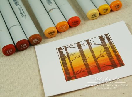 Coloring sunset