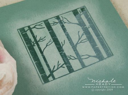 Wiping ink from embossed trees