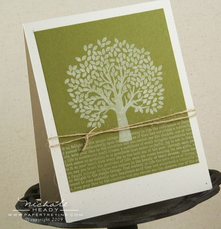 Tree & Text card