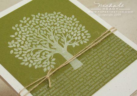 Text & tree closeup