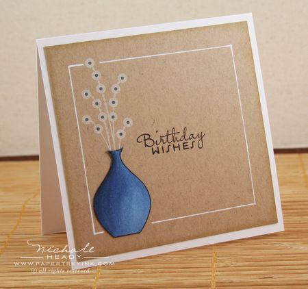 Blue Vase card
